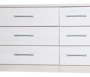 Ashley Quality Bedroom 3 Drawer Chest Double - Fully Assembled Cream Frame White Drawers