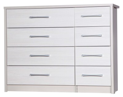 Ashley Quality Bedroom 4 Drawer Chest Double - Fully Assembled Cream Frame White Drawers