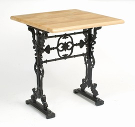 Drano Cast Iron And Wood Dining Table Square Top Contract Quality