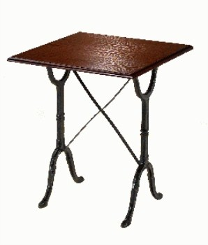 Calt Pub Furniture Cast Iron And Wood Dining Table Square Top