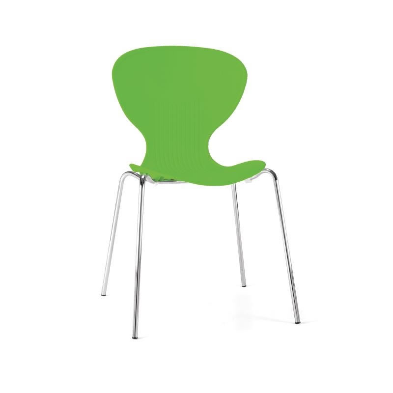 Ziponi Bright Green Stacking Plastic Side Kitchen Dining Chairs Price Is For 4