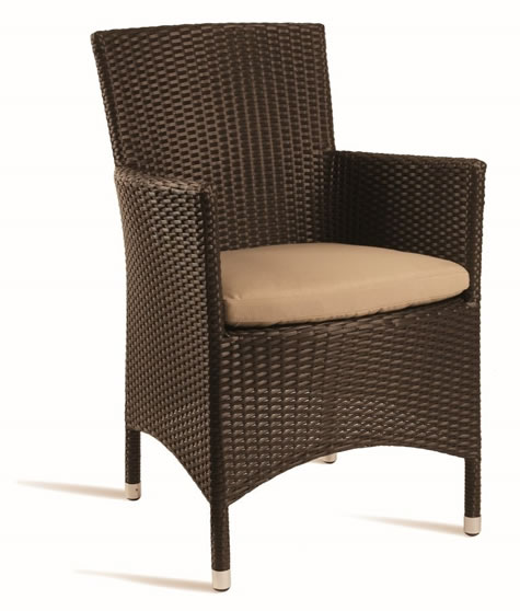 Pirer Outdoor Indoor Weave Comfort Chair With Waterproof Cushion