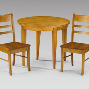 Corsa Half Moon Wooden Kitchen Dining Set - Chairs Fully Assembled