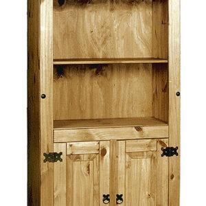 Corano Pine Bookcase With 2 Doors