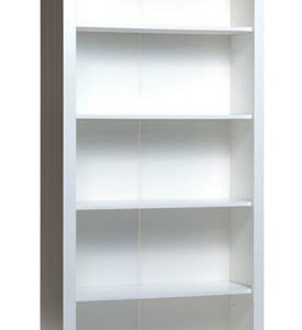 Shelton Pine And White 5 Shelf Tall Bookcase