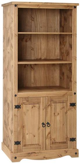 Pereza Mexican Pine 2 Door Bookcase