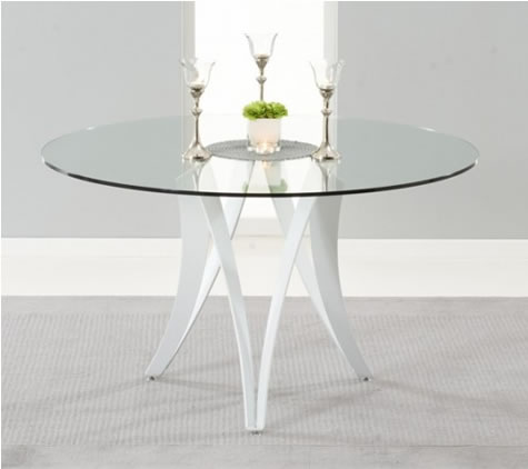Carly Glass Kitchen Dining Table Modern