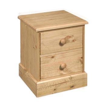 Dorset Traditional Pine 2 Drawer Bedside Cabinet
