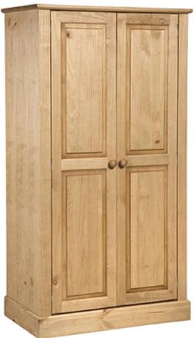 Dorset Traditional Pine 2 Door Wardrobe