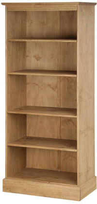 Dorset Traditional Pine 5 Shelf Tall Bookcase