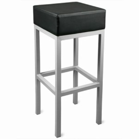 Cara Padded Steel Square Stool Fixed Height