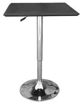 Cumbria Square Black Adjustable Table