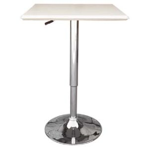 Cumbria Square White Adjustable Table