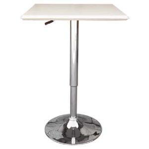 Cumbria Square White Adjustable Table