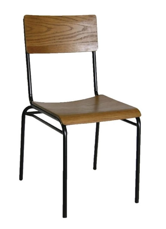 Zacrini Retro Urban Kitchen Dining Chair Wood Seat Industrial Style Fully Assembled Price Per Pair