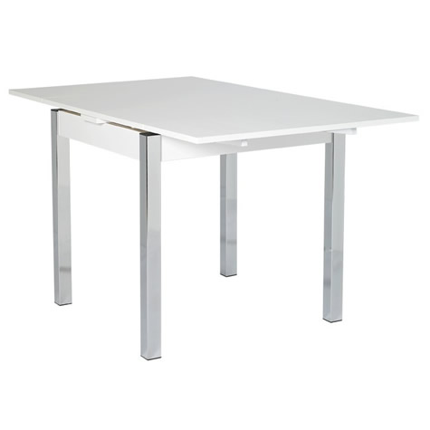 Copac Danish Made Large Extending White Dining Room Table 80 Cm To 147 Cm