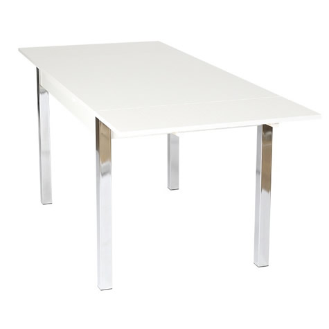 Copac Extra Large Extending White Dining Kitchen Table 120 Cm To 187 Cm