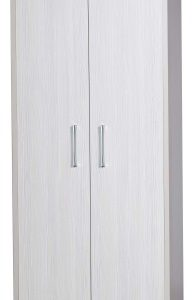 Ashley Quality Bedroom Universal Wardrobe - Fully Assembled Cream Frame White Doors