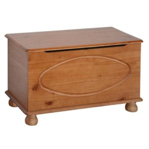 Hamilton Antique Pine Wood Bedroom Ottoman Storage Box