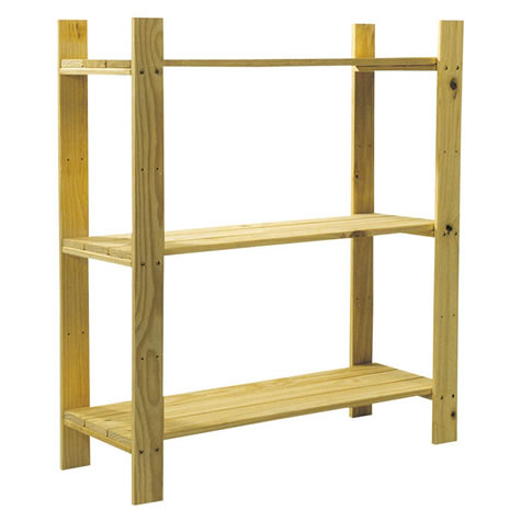 Drayton 3 Shelf Slatted Storage Unit