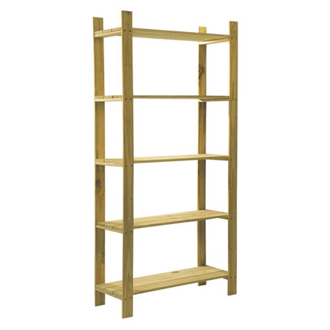 Drayton 5 Shelf Slatted Storage Unit