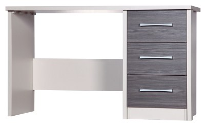 Emma Quality Dressing Table Fully Assembled Cream Frame Grey Drawers
