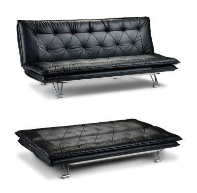 Ella Black Sofa Guest Bed Padded