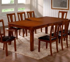 Ami Extending Table - 2 Carvers And 6 Chairs