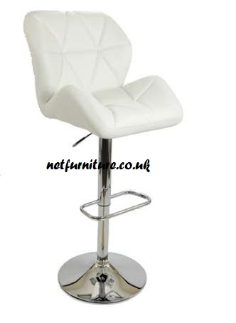 Alia Bar Stool - Chrome And Faux Leather In Choice Of Colours - Swivel And Adjustable