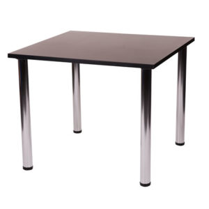 Fabian Square Small Or Large Kitchen Dining Table With 4 Chrome Legs