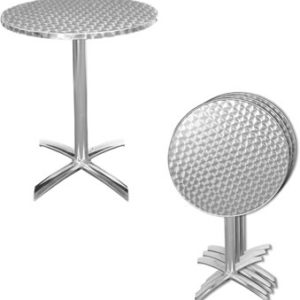 Silkie Stainless Steel Folding Patio Table Flip Top Bistro Style Round Or Square Top