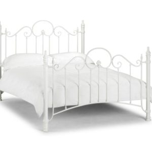 Flo Stone White Bed Metal Frame