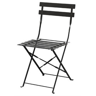 Payvey Folding Assembled Steel Indoor Or Outdoor Garden Cafe Patio Chairs