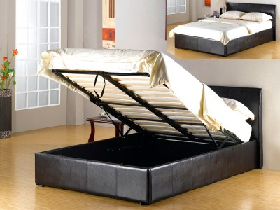 Fasio Pu Storage Bed - Double / King