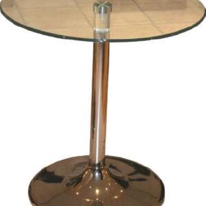 Rayton Glass Chrome Kitchen Dining Table