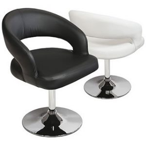 Clinock Swivel Padded Kitchen Dining Chair Chrome Stylish Modern Frame