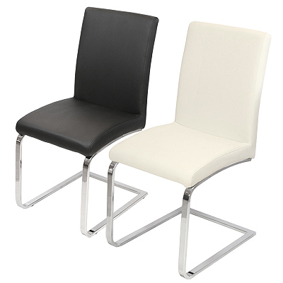 Derick Dining Cream Chrome Dining Chair