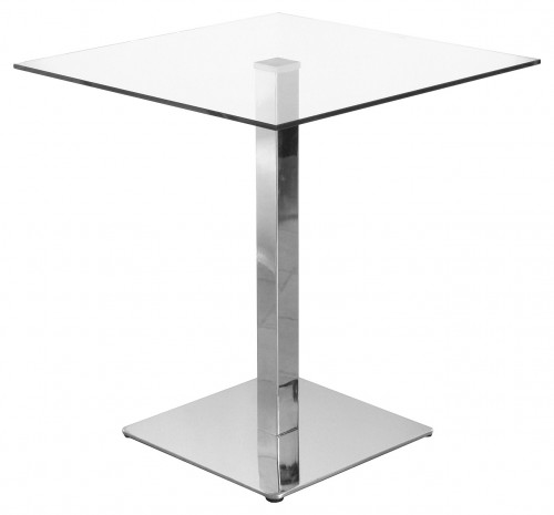 Blakey Clear Square Glass Top Stylish Kitchen Dining Table