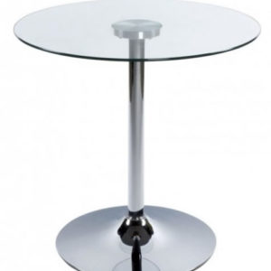 Swan Dining Table Clear Glass Bistro Kitchen Table 60