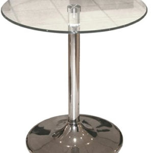 Tonker Clear Round Glass Dining Kitchen Table
