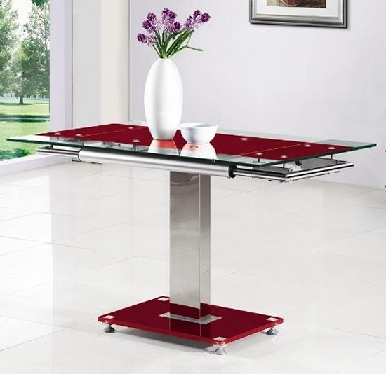 Nosri Glass Extending Dining Table - Black