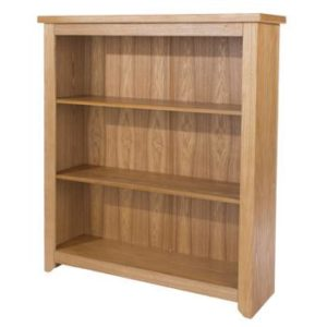 Henrick Ash Effect Oak Veneer Low Bookcase- 3 Shelf