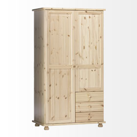 Handsome Wardrobe - 2 Door - 3 Drawer