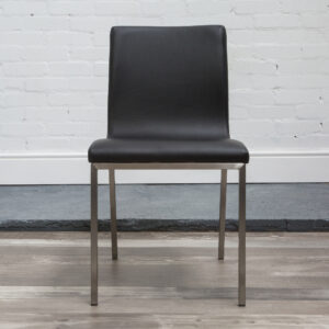 Odreg Brushed Steel Faux Leather Modern Chair - Fully Assembled Various Colours