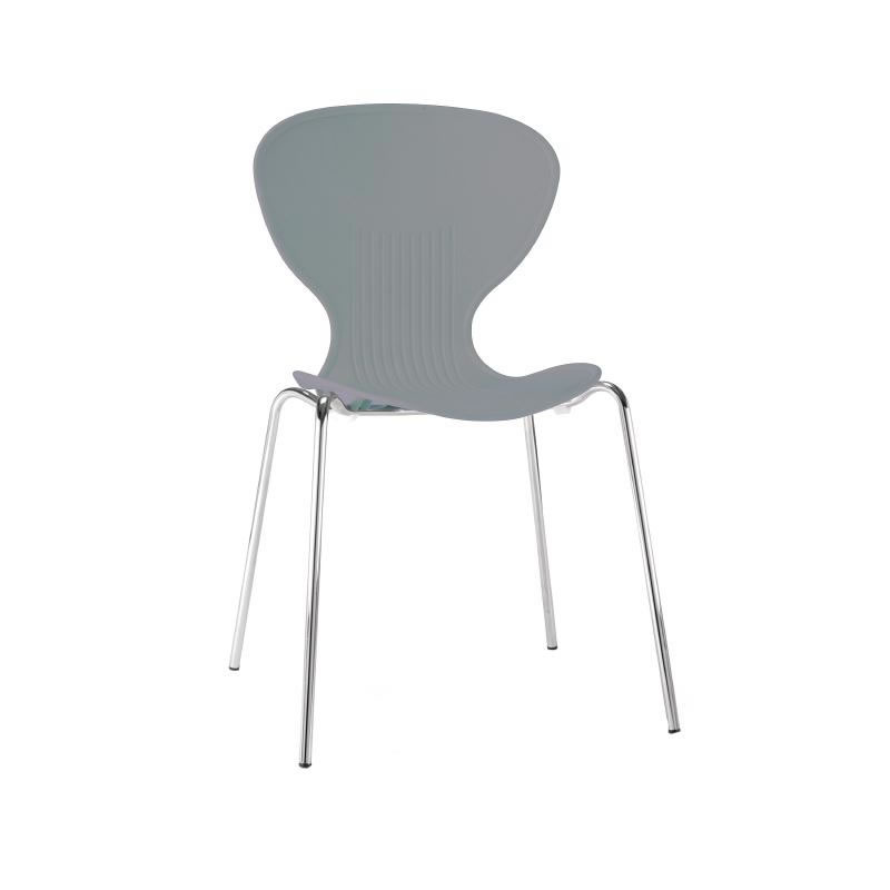 Miraculous Ziponi Grey Stacking Plastic Side Kitchen Dining Chairs Machost Co Dining Chair Design Ideas Machostcouk