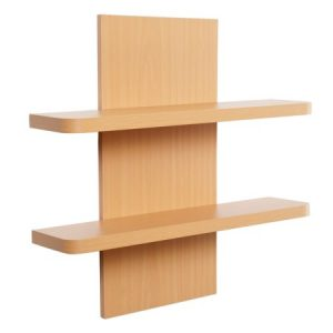 Holly Double Shelf - MDF - Beech