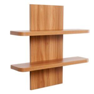 Holly Double Shelf - MDF - Walnut