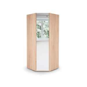 Eitan Quality Bedroom Corner Mirror Wardrobe - Variety Of Colours