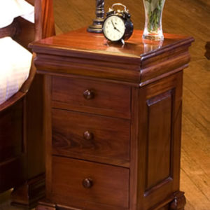Herault Mahogany 3 Drawer Cabinet - Fully Assembled