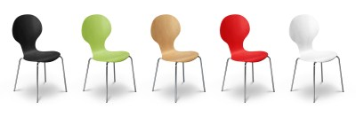 Keel Kitchen Dining Chair Stackable Various Colours